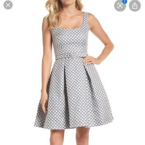 Gal meets glam Isla jacquard scallop dress